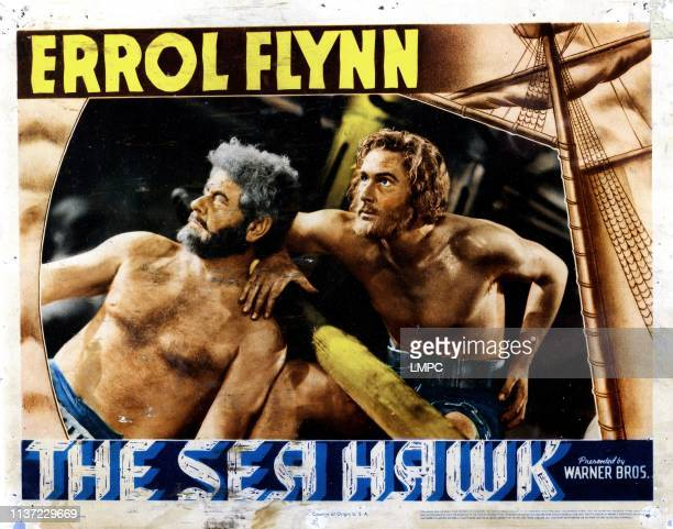 The Sea Hawk lobbycard Alan Hale Sr Errol Flynn 1940
