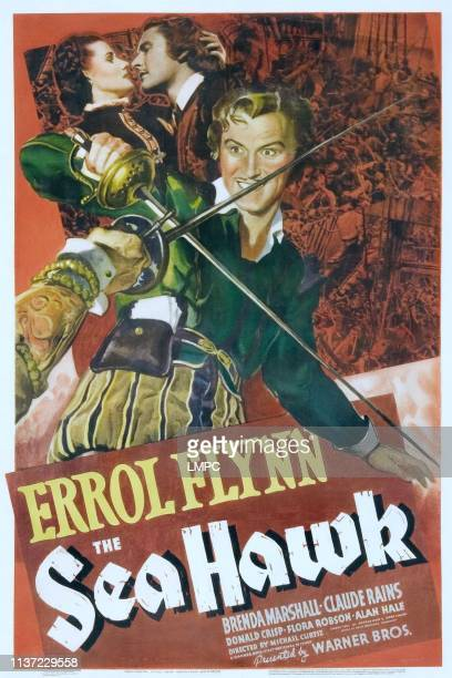 The Sea Hawk poster Brenda Marshall Errol Flynn 1940