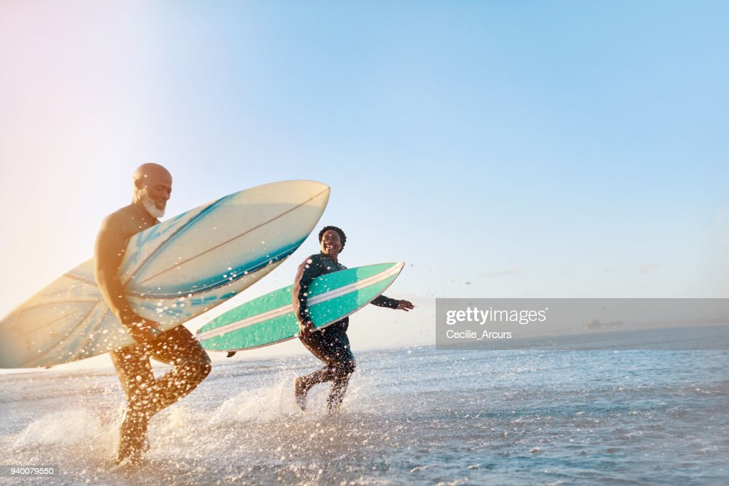 The sea just sets them free : Foto stock