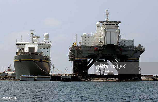 The Sea Lanch Commander, pictured at left in Long Beach on May 19 is the assembly and command ship for Sea Launch. Sea Launch is a spacecraft launch...
