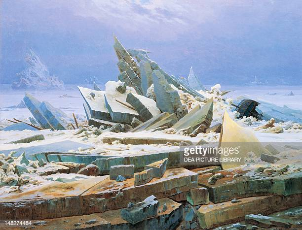 The Sea of Ice by Caspar David Friedrich oil on canvas Amburgo Hamburger Kunsthalle