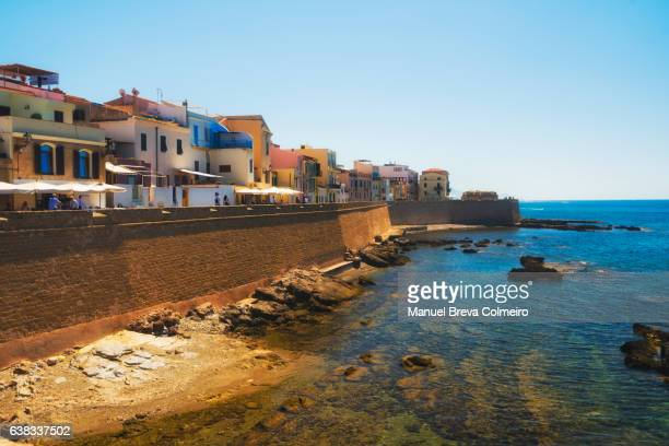 The sea promenade of Alghero, Sardinia, Italy