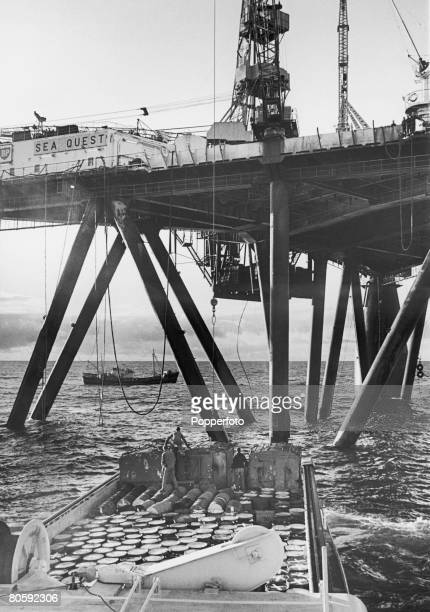 The Sea Quest oil rig owned by BP in the North Sea circa 1970 The rig is best known for discovering the Montrose Field which was the first commercial...