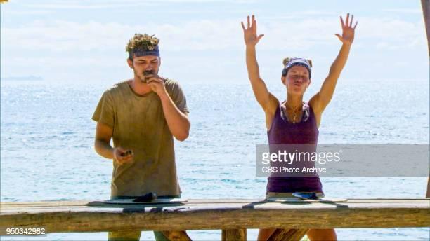 'The Sea Slug Slugger' Michael Yerger and Angela Perkins on the ninth episode of Survivor Ghost Island airing Wednesday April 18 on the CBS...