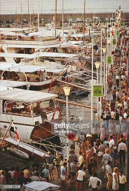 The seafront in SaintTropez on the French Riviera September 1970
