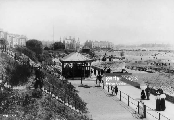 The seafront Parade in the coastal resort of WestonsuperMare in North Somerset circa 1880