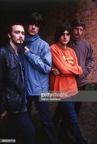 The Seahorses group portrait Ireland 1997 LR Stuart Fletcher John Squire Chris Helme Andy Watts