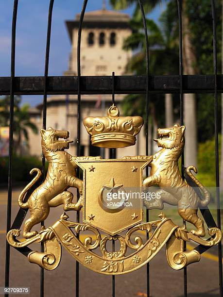 The seal of Johor embellishing a gate.