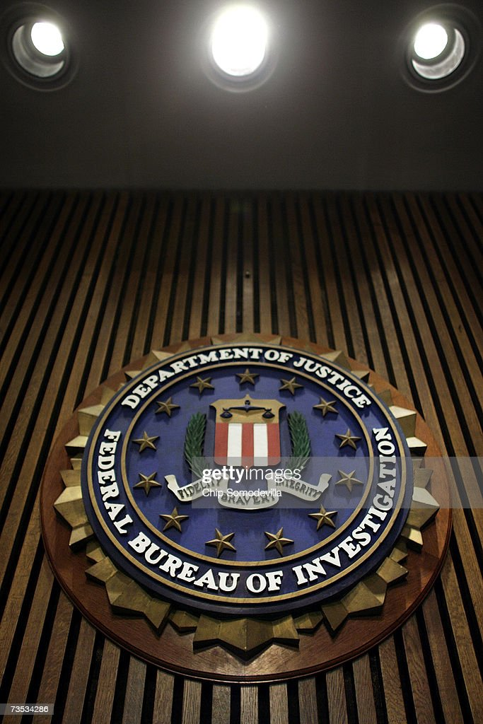 The seal of the F.B.I. hangs in the Flag Room at the bureau's headquaters March 9, 2007 in Washington, DC. F.B.I. Director Robert Mueller was responding to a report by the Justice Department inspector general that concluded the FBI had committed 22 violations in its collection of information through the use of national security letters. The letters, which the audit numbered at 47,000 in 2005, allow the agency to collect information like telephone, banking and e-mail records without a judicially approved subpoena.