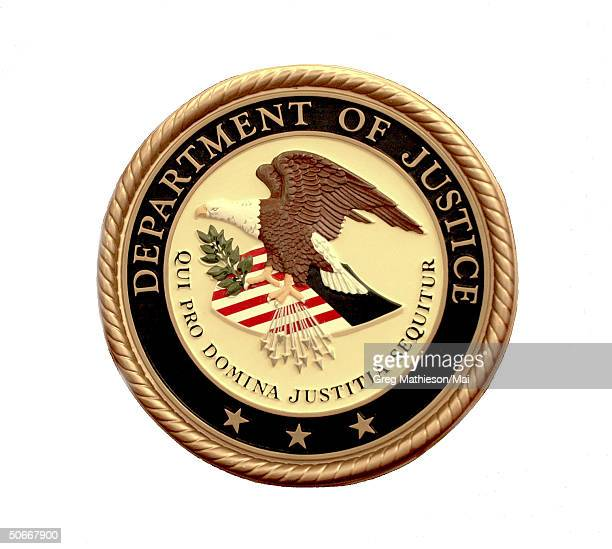 The seal of the US Department of Justice