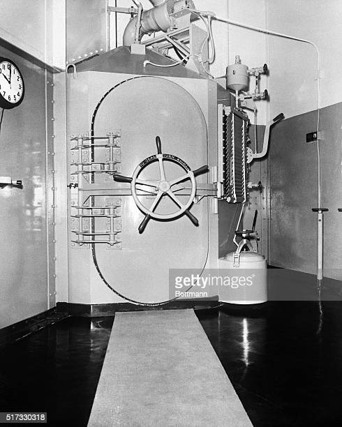The sealed door of the gas chamber at San Quentin prison in California Caryl Chessman was put to death here in May 1960