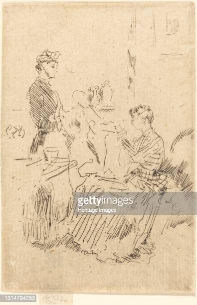 The Seamstress, c. 1884/1886. Artist James Abbott McNeill Whistler.