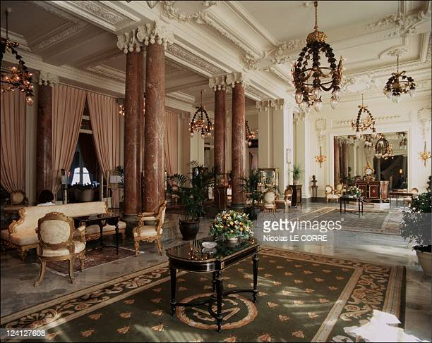 The seaside beautiful villas of Biarritz InFrance In October 1997 The entry hall of the Hotel du Palais