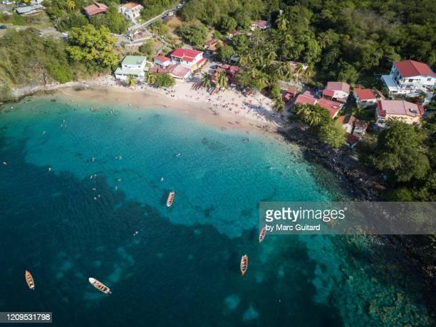 the seaside village of anse dufour, martinique - isla martinica fotografías e imágenes de stock
