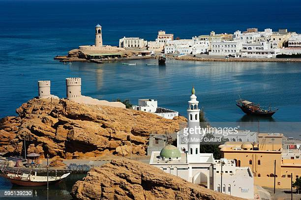 The seaside village of Sur, on the Gulf of Oman, Oman.
