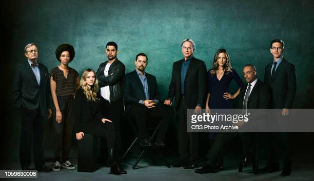 The season 16 cast of the CBS series NCIS scheduled to air on the CBS Television Network Pictured David McCallum Diona Reasonover Emily Wickersham...