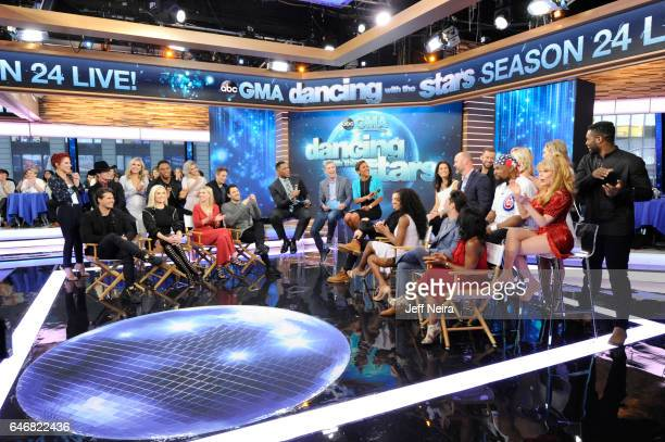 AMERICA The Season 24 cast of Dancing with the Stars is revealed live on Good Morning America Wednesday March 1 2017 Good Morning America airs...