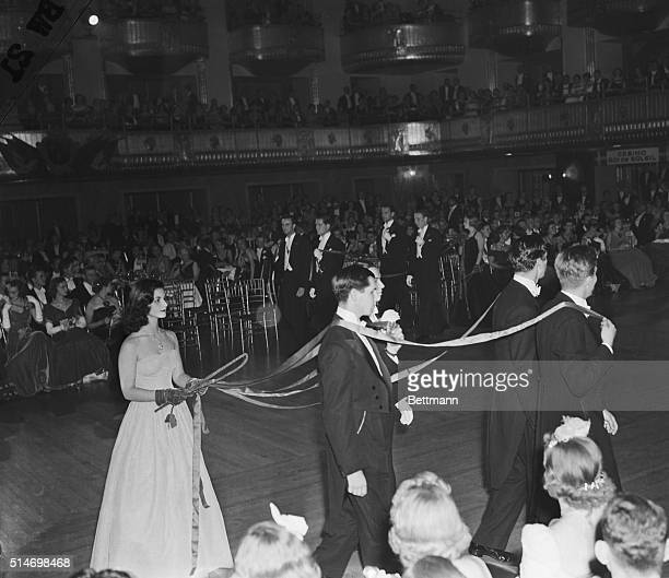 The season's number one debutante Miss Brenda Frazier drives her steeds in the quadrille of coaches during the debutantes cotillion of the velvet...