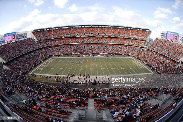 The seating bowl of Cleveland Browns Stadium is sparsely populated at the beginning of the fourth quarter during a game between the Pittsburgh...