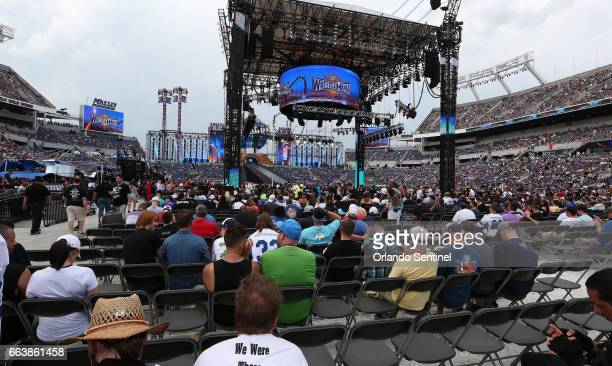 The seats fill up before the start of WrestleMania 33 on Sunday April 2 2017 at Camping World Stadium in Orlando Fla