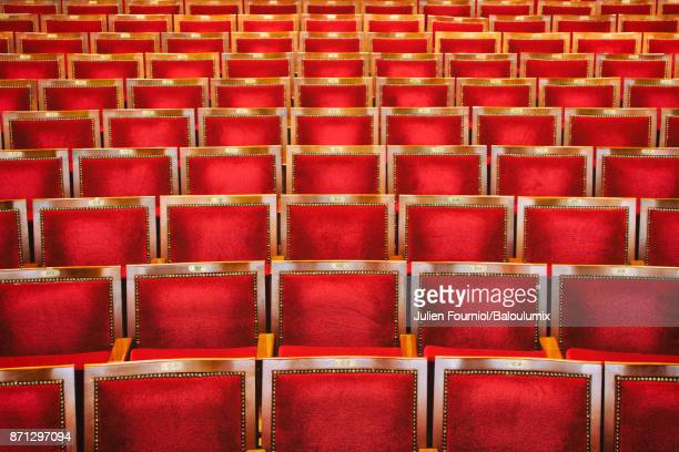 the seats - performing arts center stock photos and pictures