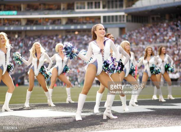 The Seattle Sea Gals perform during the game against the Atlanta Falcons on September 182005 at Qwest Field in Seattle Washington The Seahawks won...