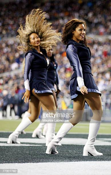 The Seattle Sea Gals perform during the game against the Houston Texans on October 16 2005 at Qwest Field in Seattle Washington
