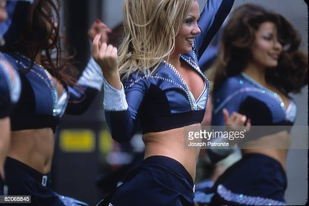 The Seattle Seahawks cheerleaders the Sea Gals cheer against the Arizona Cardinals at Qwest Field on September 15 2002 in Seattle Washington The...