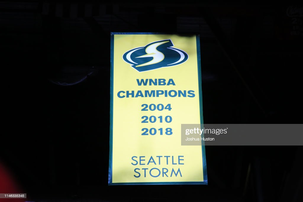 The Seattle Storm Championship Banner Is Revealed During The 2018 News Photo Getty Images
