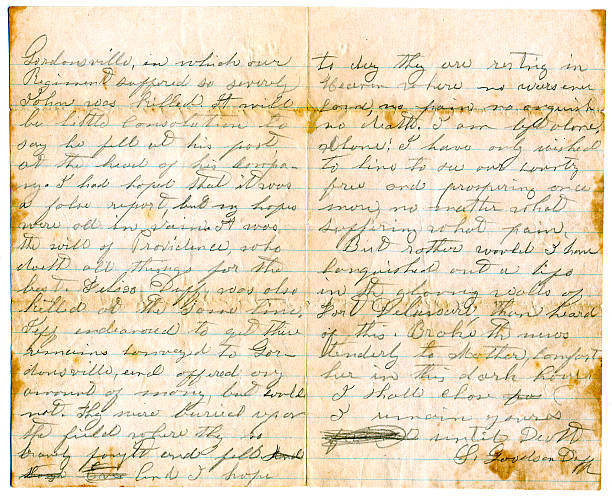 Confederate civil war letter pictures getty images confederate civil war letter spiritdancerdesigns Images