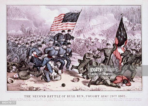 The Second Battle of Bull Run, Fought Aug. 29th 1862 Published by Currier & Ives