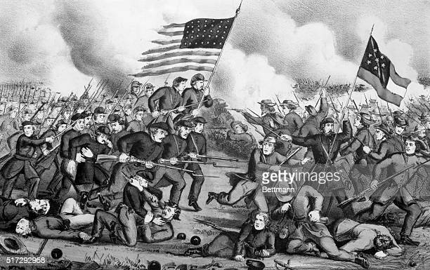 The Second Battle of Bull Run Fought August 29th 1862 Between the Army of Virginia under Maj Gen John Pope and the combined forces of the Rebel Army...