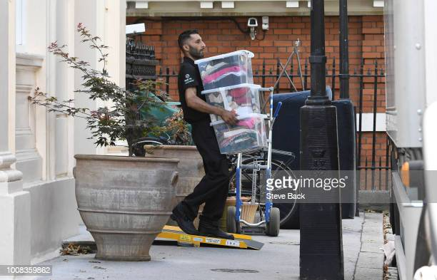 The second day of removal men seen moving out belongings from the former Foreign Secretary's graceandfavour residence in Carlton Gardens near...