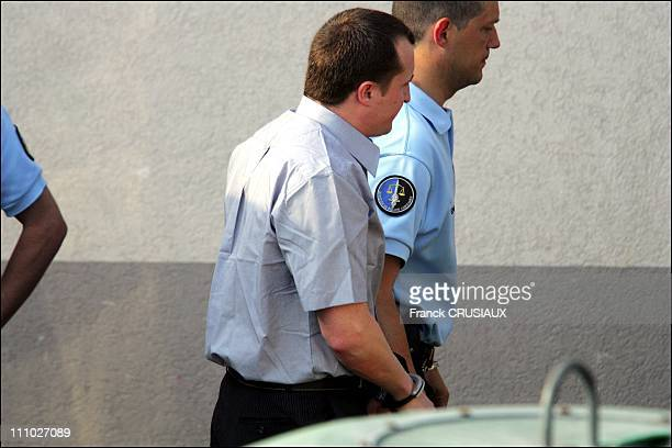 The second day of the trial of David Hotyat and four other accomplices in the murder of five family members before the Flactif Assize Court of Haute...