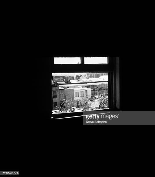 The second floor window of the rooming house bathroom from which shots were fired assassinating Dr Martin Luther King Jr in 1968 The Lorraine Hotel...