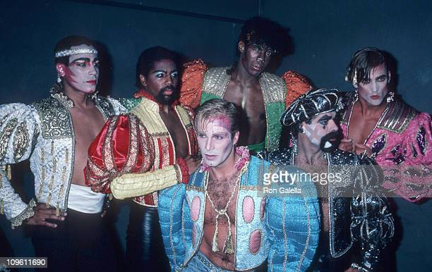 The second lineup of American disco group Village People with new lead singer Ray Simpson during Party for The Village People's New Album Renaissance...