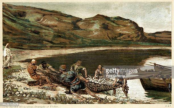 'The second miraculous draught of fishes' c1890 Scene from the Bible From The Life of Our Saviour Jesus Christ by JJ Tissot c1890