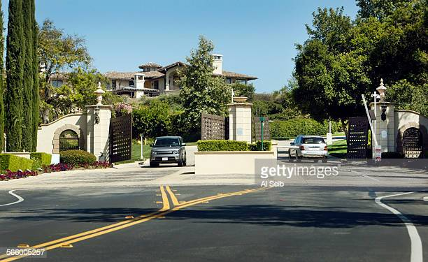 The second of two gates on Parkway Calabasas in the The Oaks a guard gated luxury community in Calabasas on May 30 2013 guards the home and immediate...