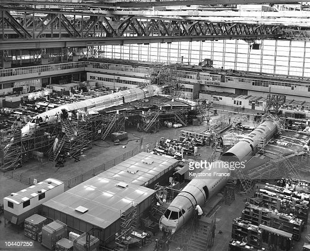 The second prototype of the CONCORDE 002 and of the first preseries model in the British Aircraft Corporation's Filton factory