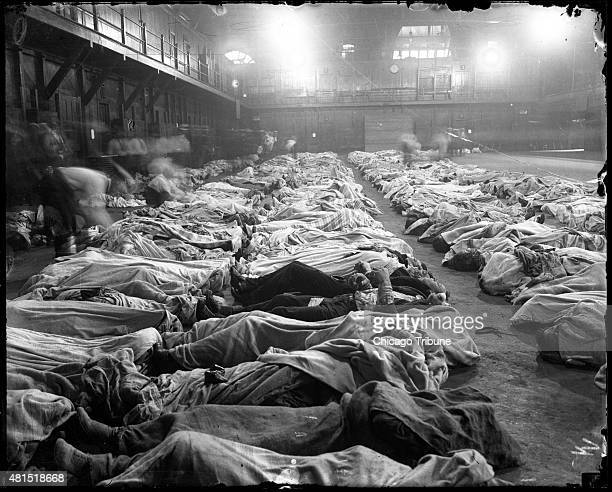 The Second Regiment Armory, on Washington Boulevard, served as a temporary morgue for victims of the SS Eastland steamship disaster July 24, 1915 in...