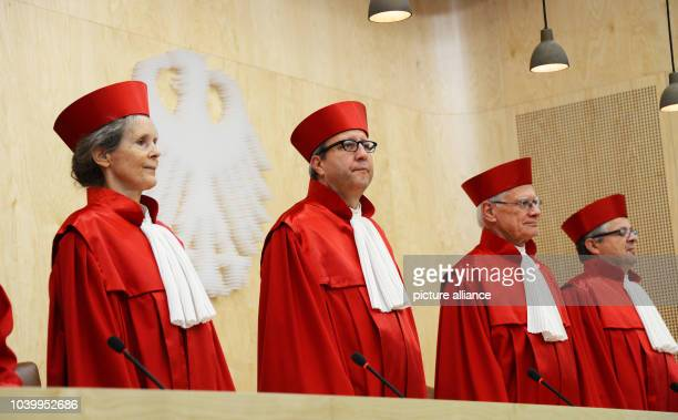 The second senate of the Federal Constitutional Court of Germany with Gertrude LuebbeWolff Andreas Vosskuhle Michael Gerhardt and Peter Huber starts...