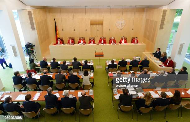 The second senate of the Federal Constitutional Court of Germany with Sibylle KessalWulf Monika Hermanns Herbert Landau Gertrude LuebbeWolff Andreas...