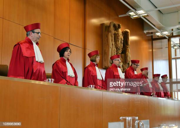 The second senate of the Federal Constitutional Court with Ulrich Maidowski Sibylle KessalWulf Monika Hermanns Peter Huber Andreas Vosskuhle Herbert...