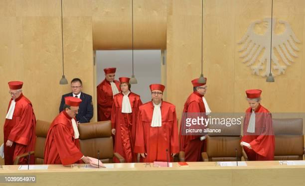 The second senate of the German Constitutional Court Michael Gerhardt Herbert Landau Peter Mueller Monika Hermanns Andreas Vosskuhle Peter Huber and...