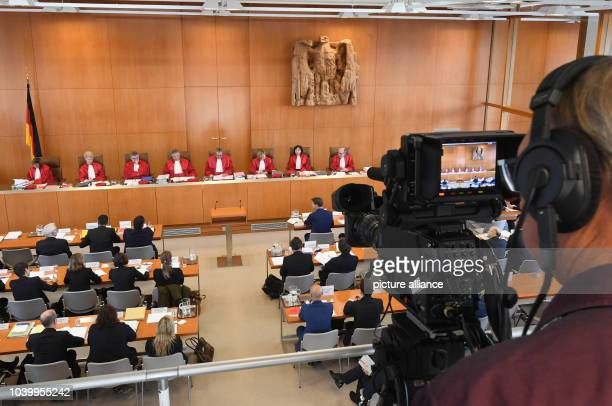 The second senate of the German Federal Constitutional Court starts the trials regarding the emergency appeal against the trade agreement CETA with...