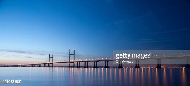 the second severn crossing - wales stock pictures, royalty-free photos & images