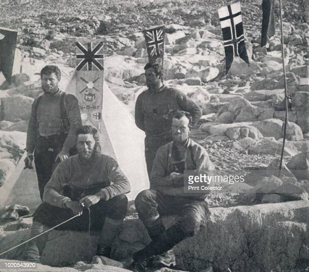 The Second Western Party at Cape Geology Granite Harbour on Christmas Day 1911 ' Petty officer Robert Forde ski expert Tryggve Gran geologist Frank...