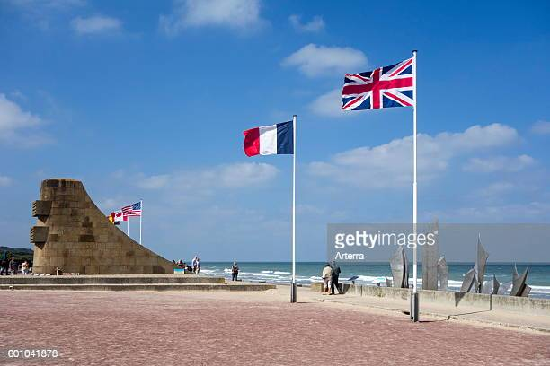 The Second World War Two Omaha Beach monument Les Braves at SaintLaurentsurMer Lower Normandy France