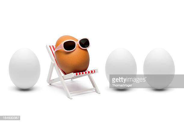 The secret about brown eggs - Humor Sunglasses lounger