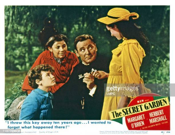 The Secret Garden US lobbycard from left Dean Stockwell Brian Roper Herbert Marshall Margaret O'Brien 1949